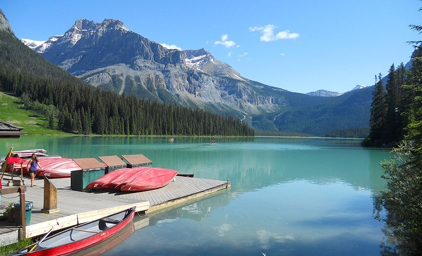 Banff Lake Louise Boat Dock