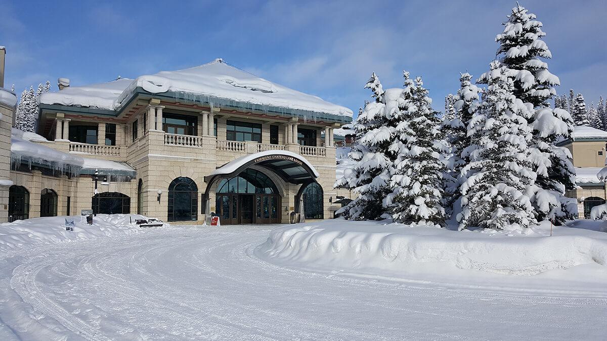 Chateau Lake Louise Entrance