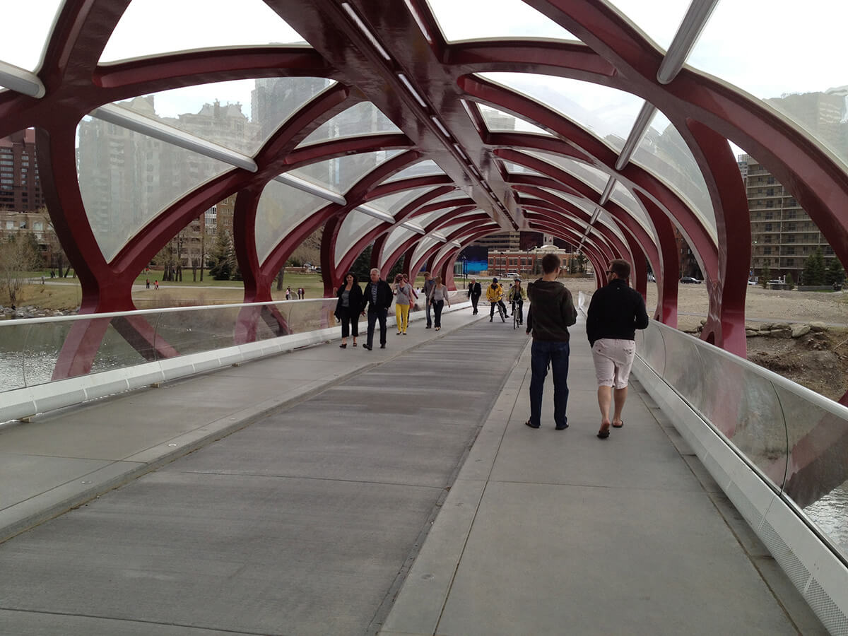 Walking on Peace Bridge